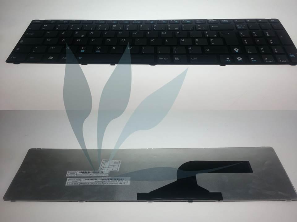 Clavier design français pour Asus X72JT (référence sur le clavier 04GNV32KFR00 ou 04GNV32KFR01)