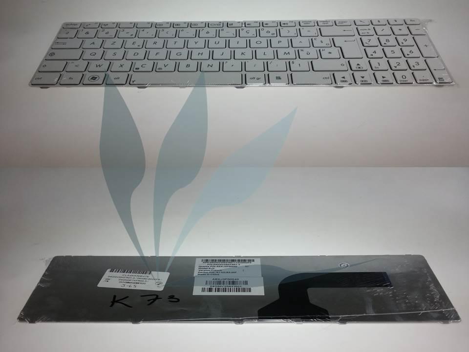 Clavier Design (type touche incrustée dans le repose poignet) BLANC pour Asus X52
