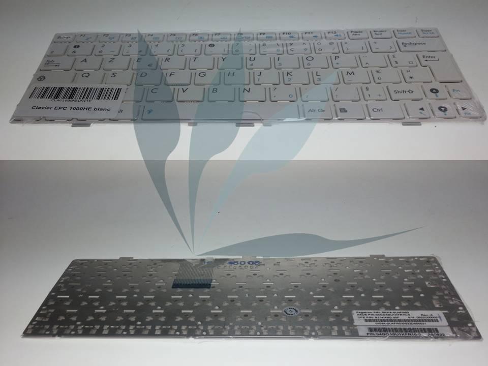 Clavier Francais blanc pour Asus EeePC 904HD blanc