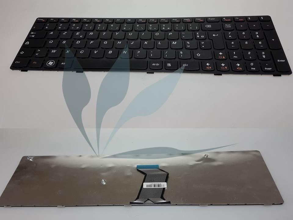 Clavier français pour Lenovo B570BG - clavier noir, contour des touches noir
