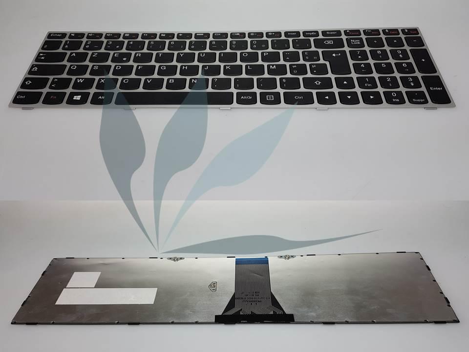 Clavier français pour Lenovo Z475 - clavier noir, contour des touches argent