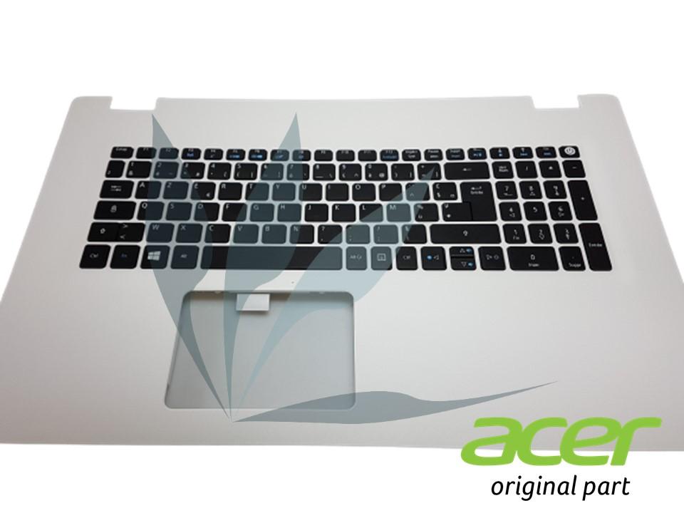 Clavier français blanc non rétro-éclairé avec repose-poignets pour Acer Aspire E5-772