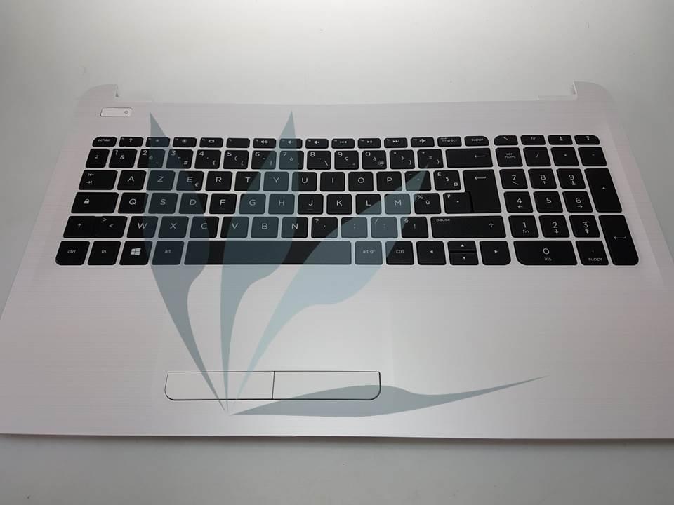 Clavier français avec repose-poignets blanc pour HP Notebook 15-BA SERIES