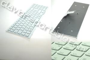 Clavier Francais Blanc avec grille pour Vaio VPC-EB