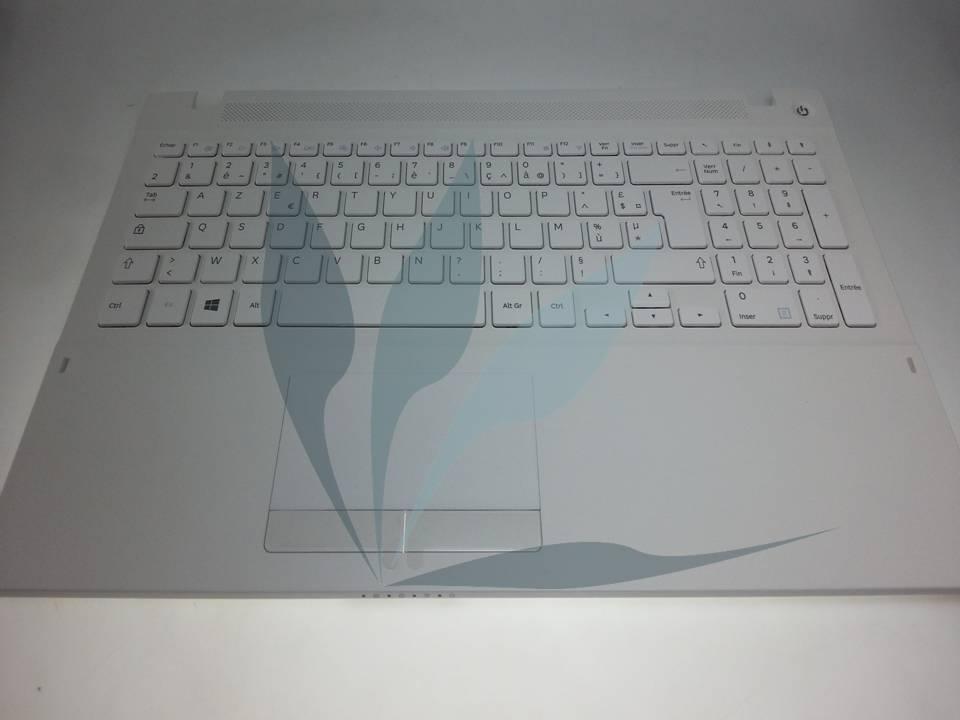 Clavier francais blanc avec repose-poignets pour Samsung NP370R5E