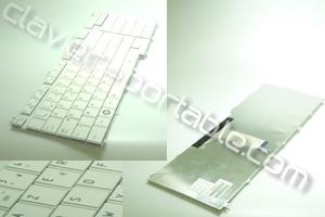 Clavier francais Blanc pour Qosmio F750