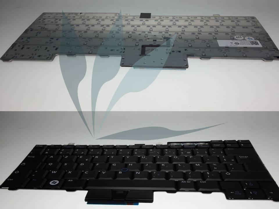 Clavier francais pour Latitude E5510 avec trackpoint (track stick) et bouton souris sous le clavier.