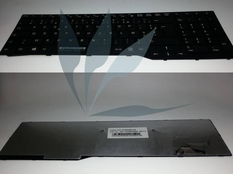 Clavier français noir pour Fujitsu Lifebook A544