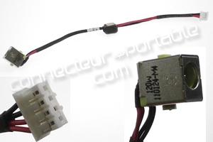 Connecteur carte mère sur câble pour Aspire 5251 - 15.5 cm longueur totale 4 pins/câbles - largeur fiche carte mère 9 mm