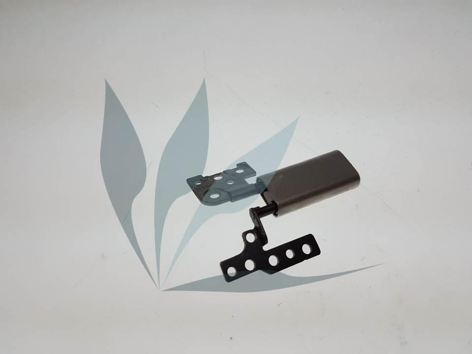Charnière droite avec cache-charnières gris clair pour Asus UX360CAK