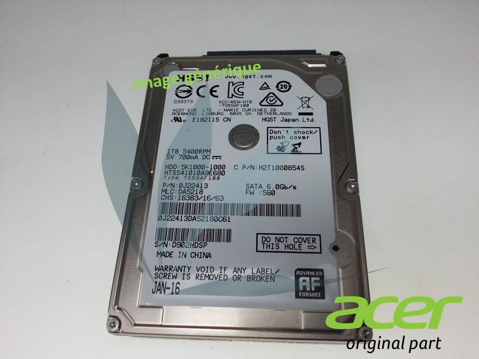 Disque dur HDD 2TB 7MM SATA3 128MB neuf d