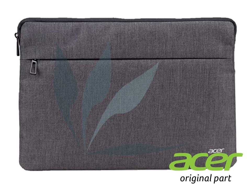 Sacoche de protection Acer pour ordinateur portable 15 pouces en tissu gris