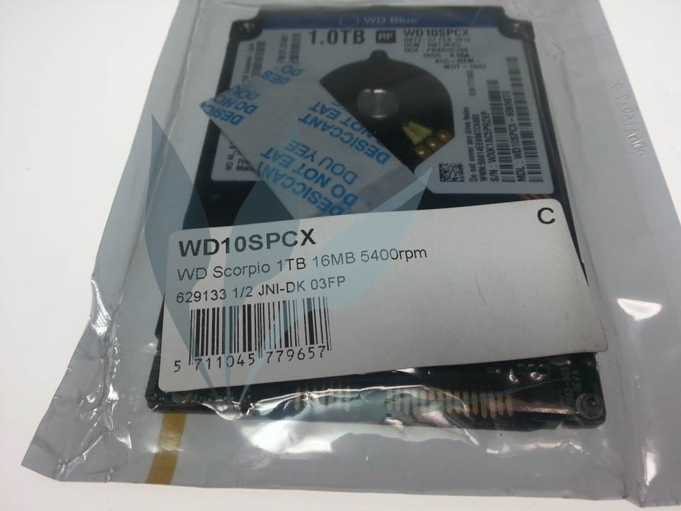 Disque dur SATA Western Digital 1TO 16MB Slim 7mm