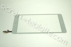 Vitre tactile 7,85 blanche avec bouton et connecteur pour IPAD MINI WIFI-A1432