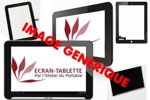 Dalle + Vitre tactile noire 3G Wifi pour Samsung Galaxy Tab 1 10.1. P7510